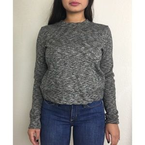 Madewell Marled Crewneck Gray Pullover Sweater